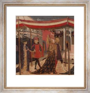 Wedding of Boccaccio and Lisa Ricasoli by Master of Cassone Adimari