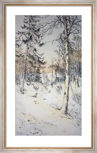 Forest Snow (Restrike Etching) by Edward Slocombe