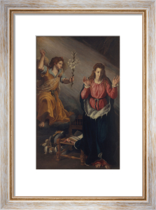 Annunciation to Mary by Alessandro Allori