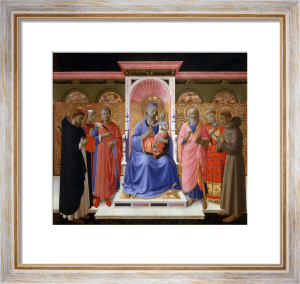Madonna and Child with saints by Attributed to Fra Angelico
