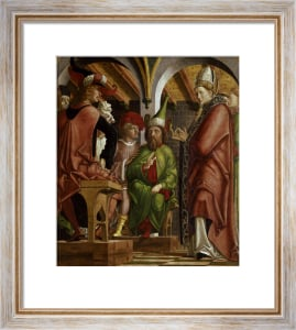 Disputation of St.Augustine with heretics by Michael Pacher