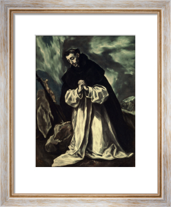 St.Dominic praying by El Greco