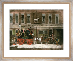 Cambridge Telegraph (Restrike Etching) by James Pollard
