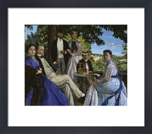 Family portrait 1867 by Jean Frederic Bazille