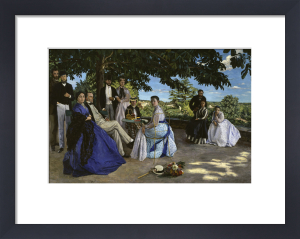 Family portrait by Jean Frederic Bazille