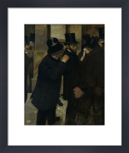 The Stock Exchange by Edgar Degas