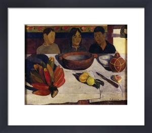 Tahitian boys at table by Paul Gauguin
