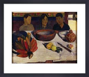 Tahitian boys at table by Paul Gauguin
