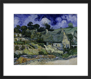 Straw-decked houses in Auvers-sur-Oise by Vincent Van Gogh