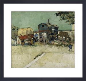 Gypsy camp by Vincent Van Gogh
