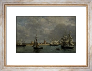 The Port of Camaret (landscape) by Eugene Louis Boudin