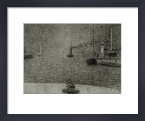 Honfleur harbour entrance by Georges Seurat