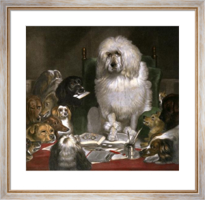 Laying Down the Law (Restrike Etching) by Sir Edwin Henry Landseer