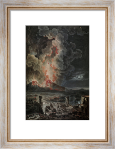 Vesuvius errupting by Anonymous