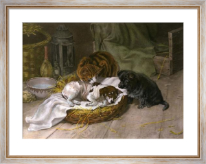 Sympathy (Doggies Better) (Restrike Etching) by William Henry Hamilton Trood