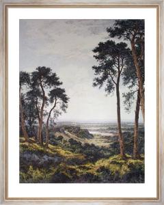 Surrey's Pleasant Hills (Restrike Etching) by Benjamin Williams Leader