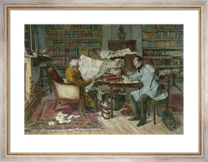 Little Mortgage, A (Restrike Etching) by Walter Dendy Sadler