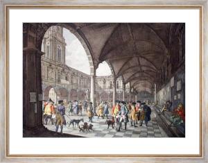 Royal Exchange (Interior) (Restrike Etching) by Chapman & Lutherburgh