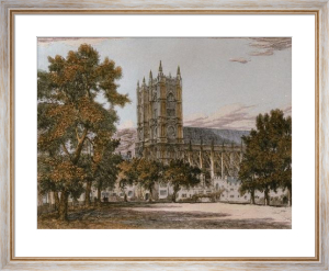 Westminster Abbey (Restrike Etching) by John Fulwood