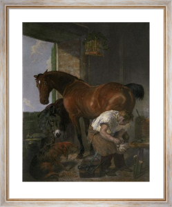 Shoeing (Restrike Etching) by Sir Edwin Henry Landseer