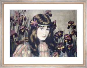 Iris (Restrike Etching) by Frederick Miller