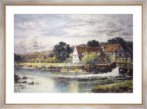 Streatley Mill (Restrike Etching) by Benjamin Williams Leader