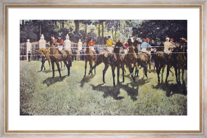 Toeing the Line (Restrike Etching) by Byam Shaw