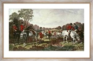 Fox Hunting - Plate 1 (Restrike Etching) by John Frederick Herring