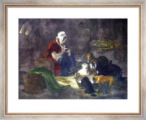 Highland Breakfast (Restrike Etching) by Sir Edwin Henry Landseer