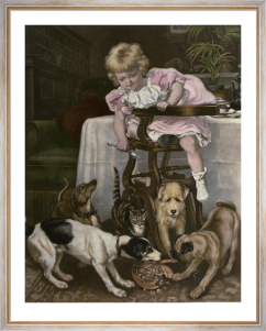 Fallen Among Thieves (Restrike Etching) by Sir Edwin Henry Landseer