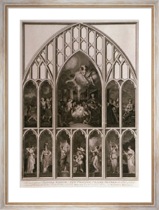 New College,Oxford (Window) (Restrike Etching) by Sir Joshua Reynolds