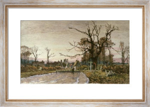 Village of Elstow (Restrike Etching) by Wilfred Ball