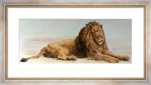 Lion on the Alert (Restrike Etching) by Herbert Thomas Dicksee
