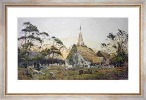 Stoke Poges Church (Restrike Etching) by Frederick Albert Slocombe