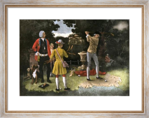 The Practice Shot (Restrike Etching) by Lawrence Josset