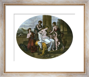 Toilet of Venus (Restrike Etching) by Angelica Kauffmann