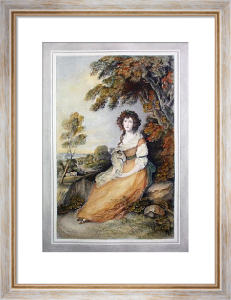 Mrs Sheridan (Restrike Etching) by Anonymous