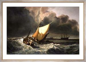 Dutch Fishing Boats (Restrike Etching) by Joseph Mallord William Turner