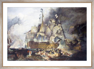 Nelson's Ship Victory at Trafalgar (Restrike Etching) by Joseph Mallord William Turner