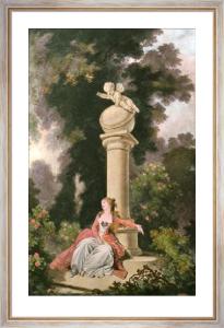 Roman D'Amour De La Jeunesse (Restrike Etching) by Jean-Honoré Fragonard