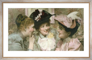 Mischief (Three Girl's heads) (Restrike Etching) by Sir Thomas Benjamin Kennington