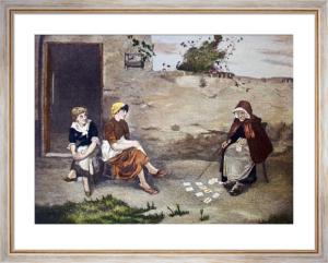 Fortune Teller (Restrike Etching) by Oliver Rhys