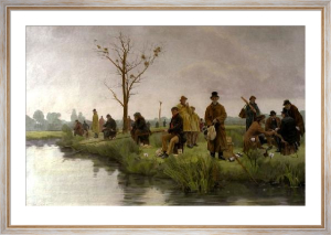 Pegged Down Fishing Match (Restrike Etching) by Walter Dendy Sadler