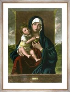 Madonna & Child (Restrike Etching) by Giovanni Bellini