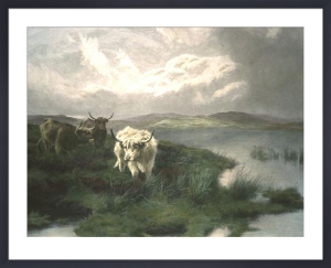 By the Lochside (Restrike Etching) by Peter Graham