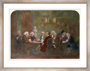 Literary Party (Restrike Etching) by James E. Doyle