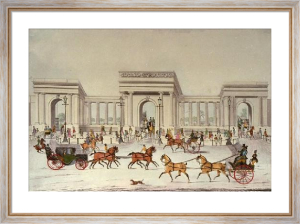 Hyde Park Corner (Restrike Etching) by James Pollard