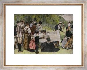 Tea At Wimbledon (Restrike Etching) by Edward Brewtnall