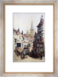 Old Christmas Steps (Restrike Etching) by F.G. Lewin