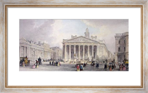 Royal Exchange (Restrike Etching) by A. L. Thomas
